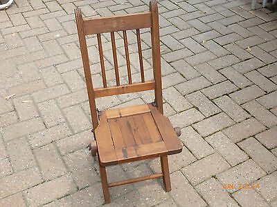 Antique / Vintage Wood Folding Child's Chair Doll Teddy Bear