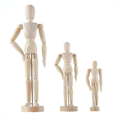 1*Kids Artist Wooden Movable Joint Doll Model Art Action Figures Toys Decoration