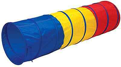 Play Tents Multi Color 6 Foot Crawl Tunnel Red Yellow Blue With Interior Padding