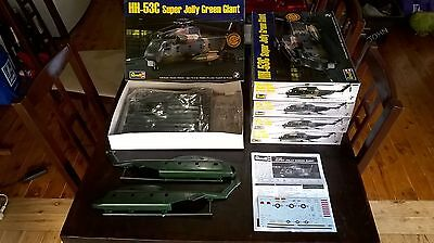 1/48 scale military helicopter kits x 5 with rare Super Scale decal sheets
