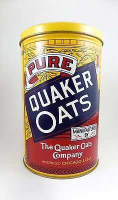 Vintage QUAKER ROLLED OATS COLLECTIBLE TIN CAN-1984 LIMITED EDITION KITCHEN