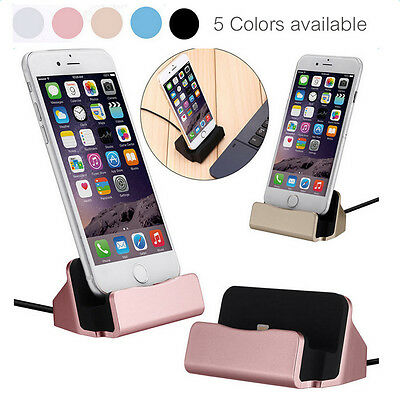 Desktop Charger Stand Dock Station  Sync Charge Cradle for iPhone 5 6s 7 Plus