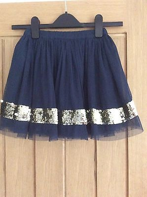 Girls Navy Mini Boden Skirt – Age 5–6 Years