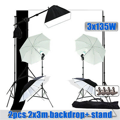 Photography 2025W Umbrella Reflector Light Softbox Boom Arm Stand Backdrop Clamp