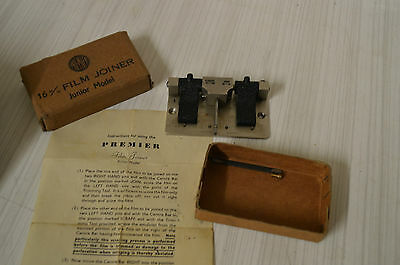 Vintage Premier Deluxe 16mm Film Joiner, boxed Junior model