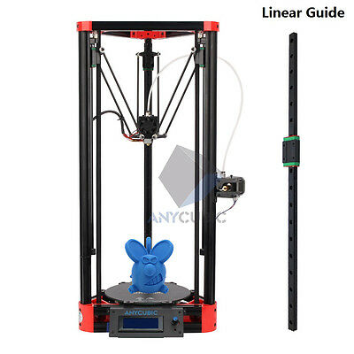 Anycubic Self-assembly Kossel 3D Printer Linear Guide Rail Version DIY Red Delta