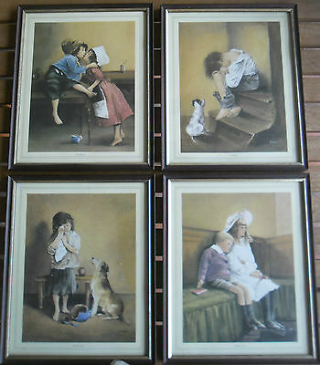 Vintage 1970's Framed Art  Prints by EVANS- Set of 4