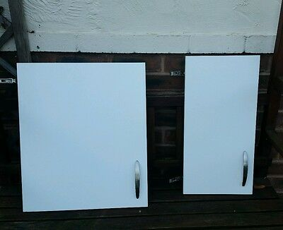 Used - White Kitchen Cupboard Doors and Drawers - Sink included All B&Q