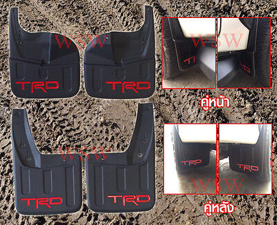 TRD Rear Front Mud Flaps Mudflaps Splash Guard For Toyota Hilux Revo Fortuner 15