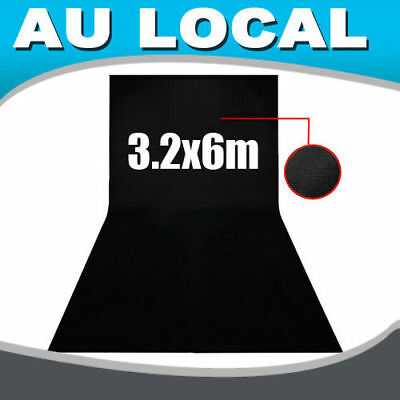 Studio Photo Photography Background Backdrop Screen 3.2 x 6m Black AU Local