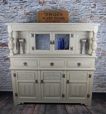 Old Charm Court Cupboard. Chic not Shabby. LOCATED BS24 7BE. Delivery available.