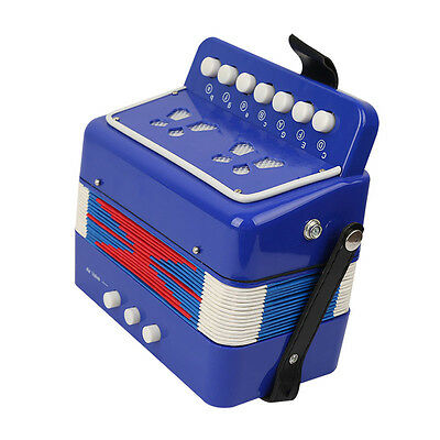 Blue Kids Educational Instrument Music Accordion Toys Children Christmas Gifts
