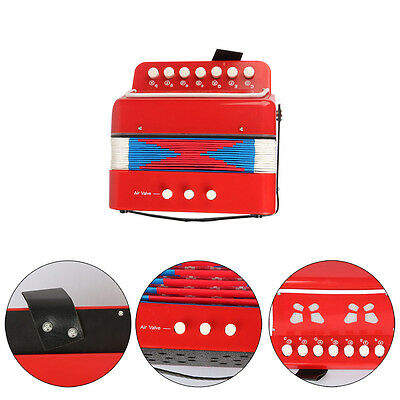 Red Kids Accordion Toys Educational Instrument Music Children Christmas Gifts