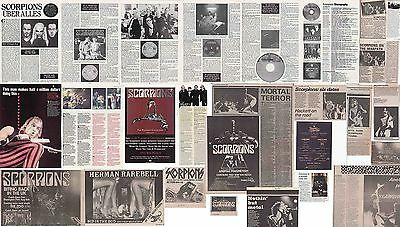 SCORPIONS : CUTTINGS COLLECTION -interviews adverts-