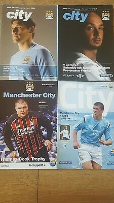 4 Manchester City Friendly Programme Collection 2004-2010 **LOOK**