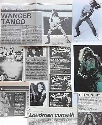 TED NUGENT : CUTTINGS COLLECTION -adverts-