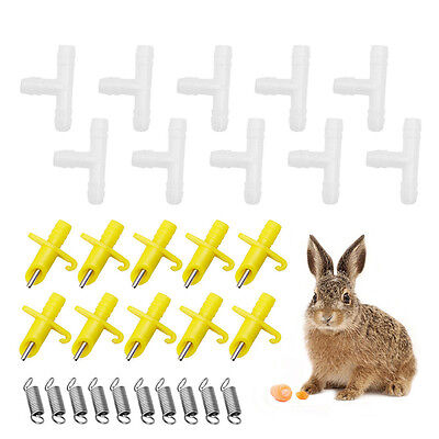 5/10Pcs Automatic Nipple Water Drinking Rabbit Mouse Bunny Feeder Waterer NEW