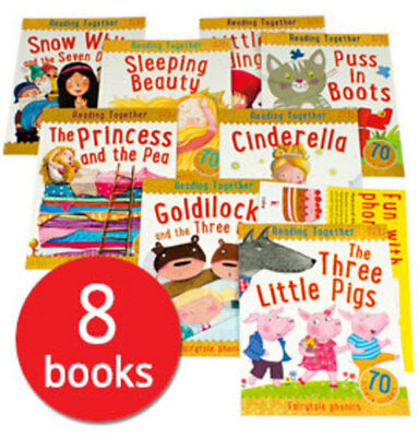 Reading Together Fairy Tale Phonics Collection with Poster - 8 Books