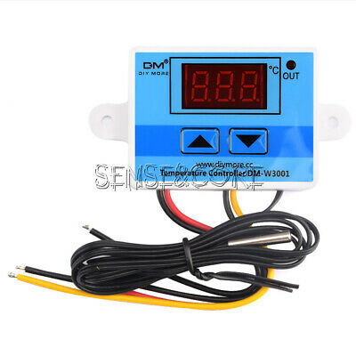 AC 220V 10A LED Digital Temperature Controller Thermostat Control Switch w Probe