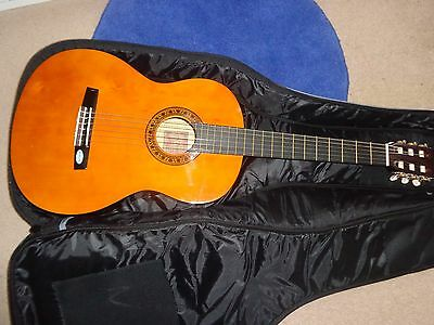 Guitar for Beginners viynl strings in good condition with case.
