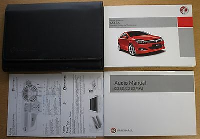 Vauxhall Astra H Owners Manual Handbook Wallet 2004-2010 Pack 12903