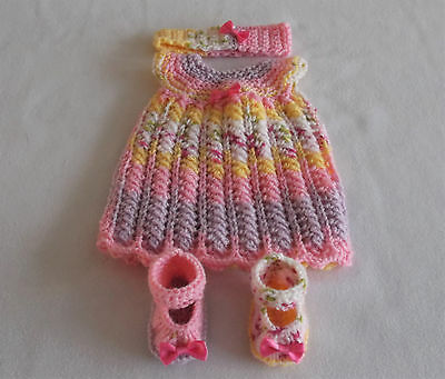 """Hand Knltted Dolls Clothes. Fit 16"""" doll."""