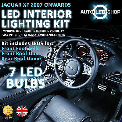 Jaguar Xf Smd Led Interior Upgrade Complete Kit Set Bulb Xenon White