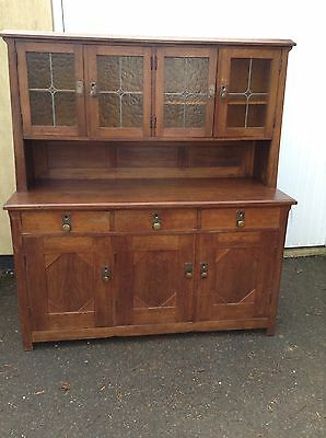 Antique Solid Oak Alpine Kitchen Larder Dining Cafe Cupboard Rustic Chic