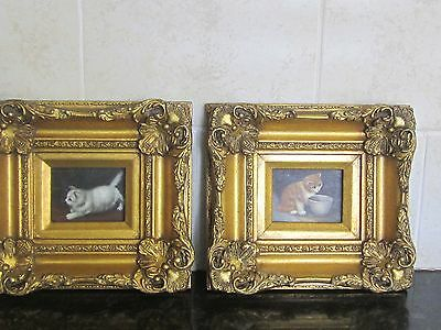 antique paintings of kittens