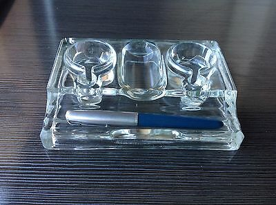 Vintage Ink Well - Solid Glass