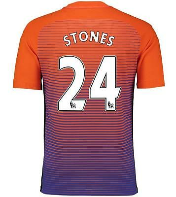 Manchester City Third jersey Soccer STONES 24 in size M