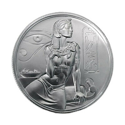 Elemetal Mint Cleopatra Silver Round – 2Oz Pure Silver Bullion – Ultra High R...