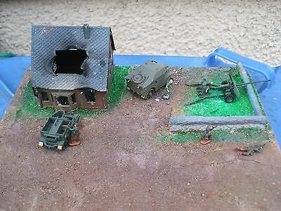 1/72 airfix kits built  WW2  on a base for display