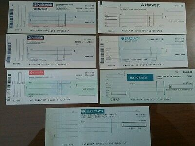 7 x assorted modern cheques 1990s-2000+