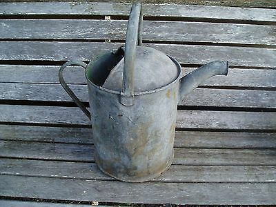 Vintage Galvanised Watering Can   Garden or Display .  2 gallon