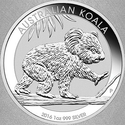 2016 Silver 1 oz Koala Bullion Coin