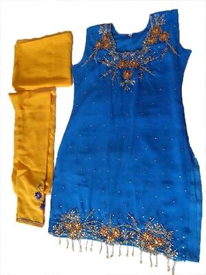 Designer Suits Salwar Kameez Short  Dress Indian Wear Blue Colour
