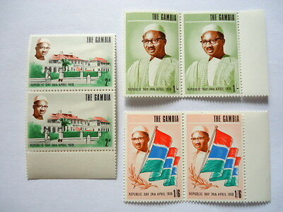 Gambia 1970 SG265-7 2d-1/6d Pairs MNH