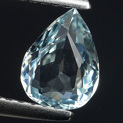 1.48 Ct Beautiful Santa Mariya Blue Natural Aquamarine Pear Cut Loose Gemstones