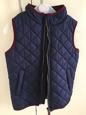 Duck & Dodge Navy Quilted Gilet 4-5 Years NWOT