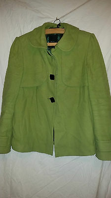 Vintage Retro ? Ladies Green Jacket/coat By Betty Jackson Black Size 16