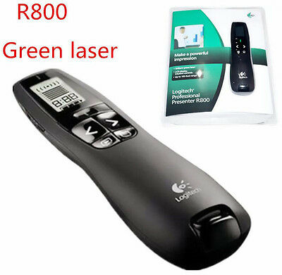 Logitech Presenter R800 Wireless Green Laser Remote Pointer USB Receiver PPT Pen
