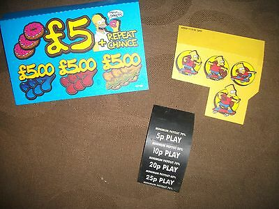 simpsons 5JP fruit machine decalls AD00113/A SPP