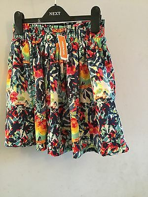 girls colourful skirt aged 11 new and tagged by bluezoo