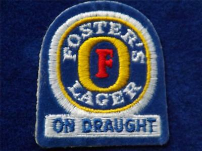 Foster's Lager Beer On Draught Advertising  Patch Brewey Collector Badge