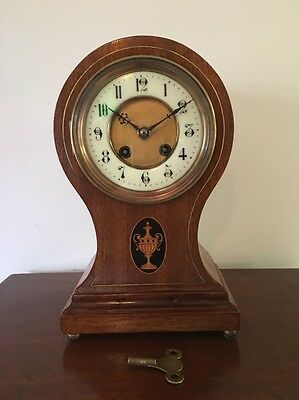 1880's Antique French Eight Day Chiming Balloon Clock. Perfect Working Order.