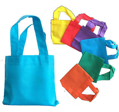 Set of 12 NEW Gift Bag Small Bags Reusable ECO friendly Blue Green Red Purple