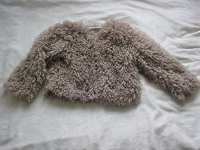 FABULOUS FLUFFY JACKET/BOLERO  4-5 Years