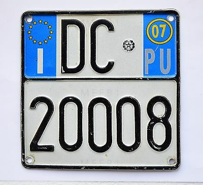 Italy license plates-Motorcycle