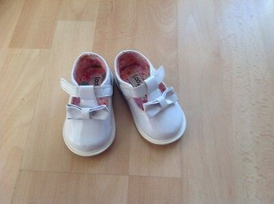 New Ladybird White baby girl shoes size 2